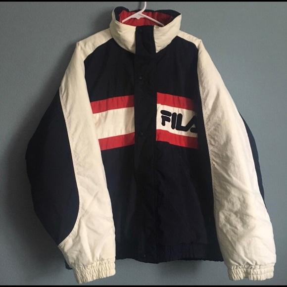 new design nice cheap large discount Fila Jackets & Coats | Vintage Puffer Jacket Rare | Poshmark